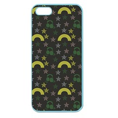 Music Star Dark Grey Apple Seamless Iphone 5 Case (color)