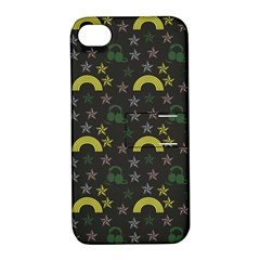 Music Star Dark Grey Apple Iphone 4/4s Hardshell Case With Stand