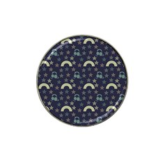 Music Stars Dark Teal Hat Clip Ball Marker