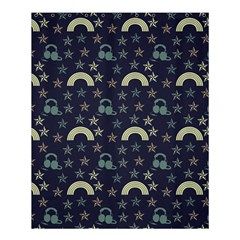 Music Stars Dark Teal Shower Curtain 60  X 72  (medium)