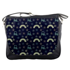 Music Stars Dark Teal Messenger Bags