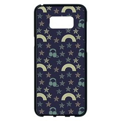 Music Stars Dark Teal Samsung Galaxy S8 Plus Black Seamless Case