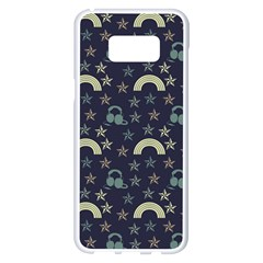 Music Stars Dark Teal Samsung Galaxy S8 Plus White Seamless Case