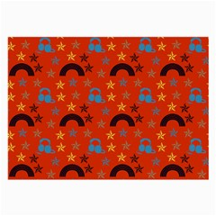 Music Stars Red Large Glasses Cloth