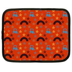 Music Stars Red Netbook Case (large)