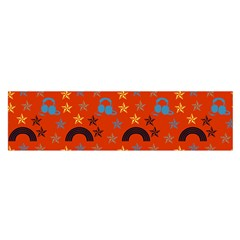 Music Stars Red Satin Scarf (oblong)
