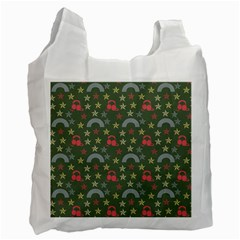 Music Stars Grass Green Recycle Bag (one Side)