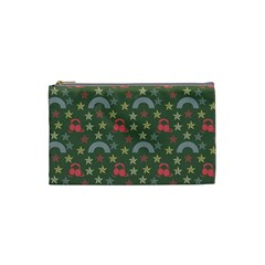 Music Stars Grass Green Cosmetic Bag (small)
