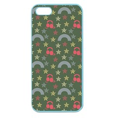 Music Stars Grass Green Apple Seamless Iphone 5 Case (color)