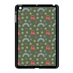 Music Stars Grass Green Apple Ipad Mini Case (black)