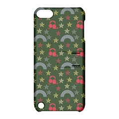 Music Stars Grass Green Apple Ipod Touch 5 Hardshell Case With Stand