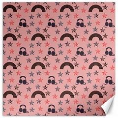Music Stars Peach Canvas 16  X 16