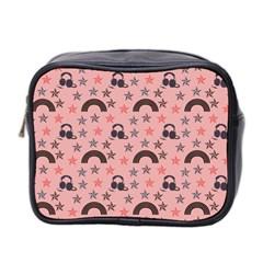 Music Stars Peach Mini Toiletries Bag 2 Side