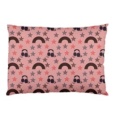 Music Stars Peach Pillow Case (two Sides)