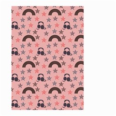 Music Stars Peach Small Garden Flag (two Sides)