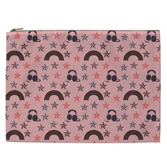 Music Stars Peach Cosmetic Bag (xxl)