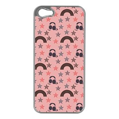Music Stars Peach Apple Iphone 5 Case (silver)