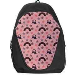 Music Stars Peach Backpack Bag