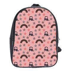 Music Stars Peach School Bag (xl)