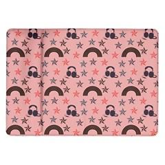 Music Stars Peach Samsung Galaxy Tab 10 1  P7500 Flip Case