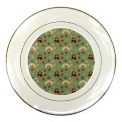 Music Stars Green Porcelain Plates