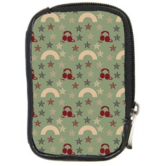 Music Stars Green Compact Camera Cases