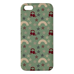 Music Stars Green Apple Iphone 5 Premium Hardshell Case