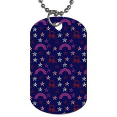Music Stars Navy Dog Tag (one Side)