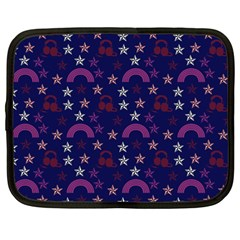 Music Stars Navy Netbook Case (large)
