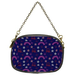 Music Stars Navy Chain Purses (two Sides)
