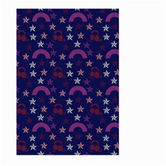 Music Stars Navy Large Garden Flag (two Sides)