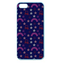 Music Stars Navy Apple Seamless Iphone 5 Case (color)