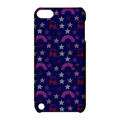 Music Stars Navy Apple Ipod Touch 5 Hardshell Case With Stand