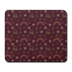 Music Stars Brown Large Mousepads
