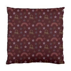 Music Stars Brown Standard Cushion Case (two Sides)