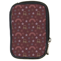 Music Stars Brown Compact Camera Cases