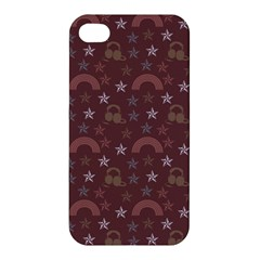 Music Stars Brown Apple Iphone 4/4s Hardshell Case