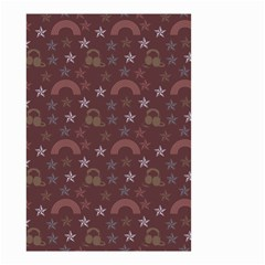 Music Stars Brown Small Garden Flag (two Sides)