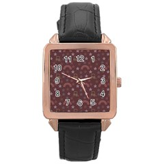 Music Stars Brown Rose Gold Leather Watch