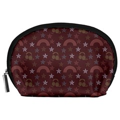 Music Stars Brown Accessory Pouches (large)