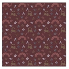 Music Stars Brown Large Satin Scarf (square)