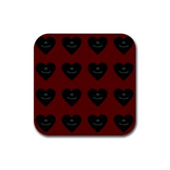 Cupcake Blood Red Black Rubber Square Coaster (4 Pack)