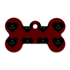 Cupcake Blood Red Black Dog Tag Bone (two Sides)