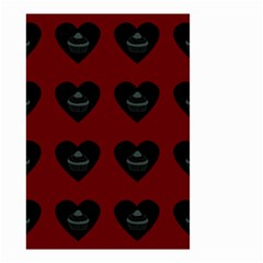 Cupcake Blood Red Black Small Garden Flag (two Sides)
