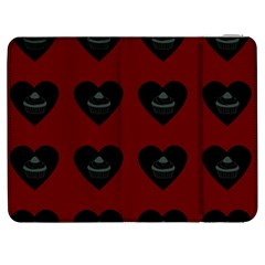 Cupcake Blood Red Black Samsung Galaxy Tab 7  P1000 Flip Case