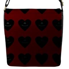 Cupcake Blood Red Black Flap Messenger Bag (s)