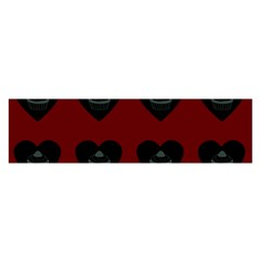 Cupcake Blood Red Black Satin Scarf (oblong)