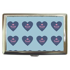 Cupcake Heart Teal Blue Cigarette Money Cases