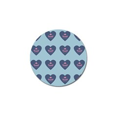 Cupcake Heart Teal Blue Golf Ball Marker (10 Pack)