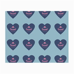 Cupcake Heart Teal Blue Small Glasses Cloth
